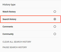 Search History button
