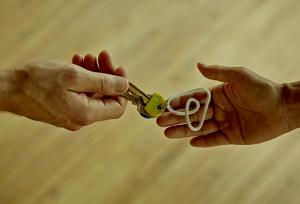 Handing a key over