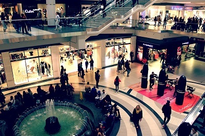 Interior of a large mall