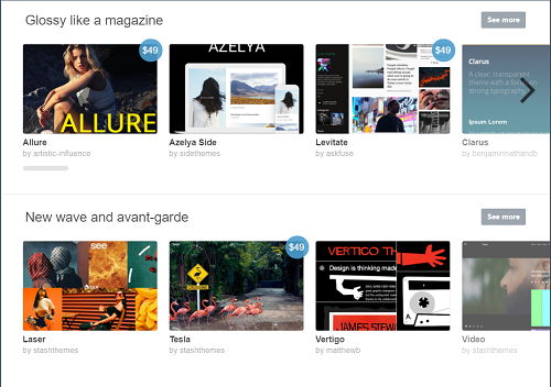 Various Tumblr themes
