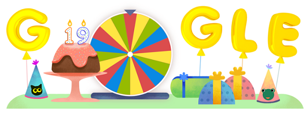 Google 19th birthday Doodle