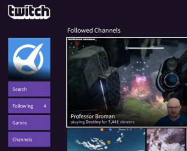 Playstation 4 Twitch app