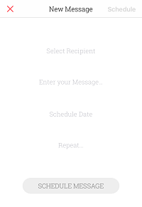 Draft a message through Scheduled app