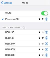 Wi-Fi device settings