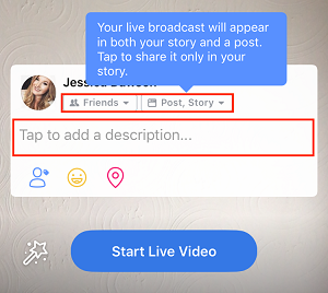 Adjust settings for live video