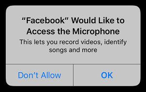 Allow Access button