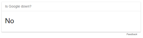 NO in an answer box from Google