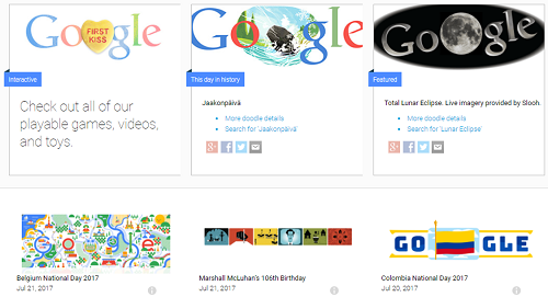 Google Doodles collection