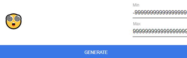 Number generator confused by large number range