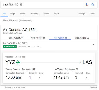Google flight tracker