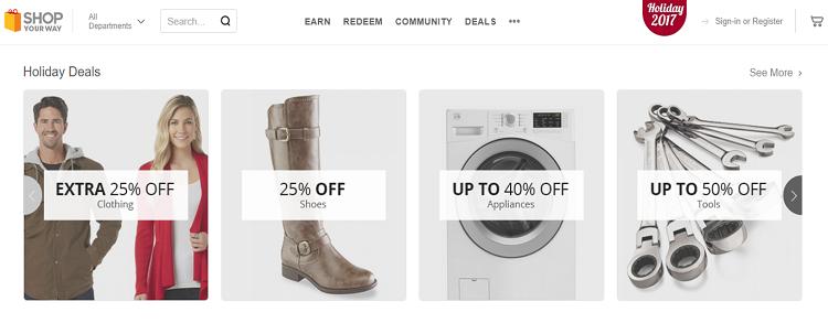 Shop Your Way website