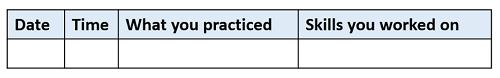 Practice journal example