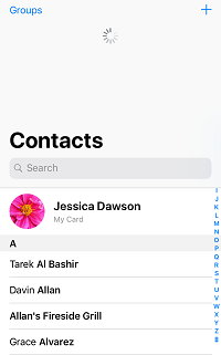 Refresh contacts list