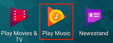 Play Music app on Android