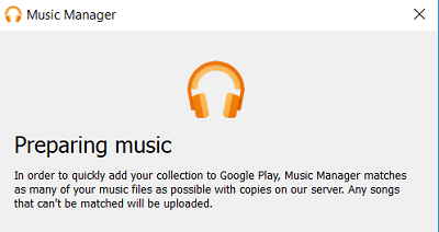 Music Manager app preparing your music library