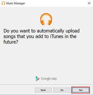 Auto-upload setting