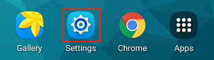 Android settings icon