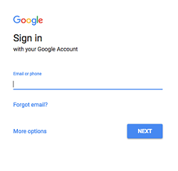 Google account sign in