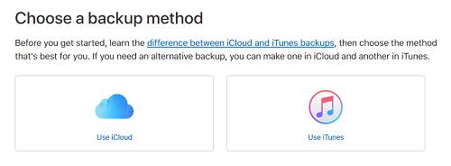 Device backup method