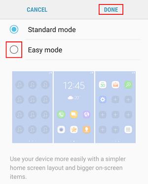 Easy Mode button