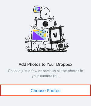 Choose Photos button