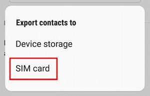SIM Card button