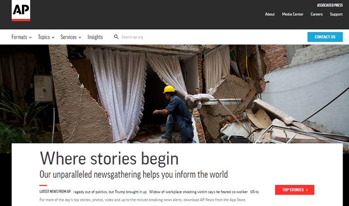 The Associated Press website