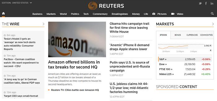 Reuters website