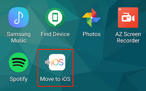 Move to iOS app icon on homescreen