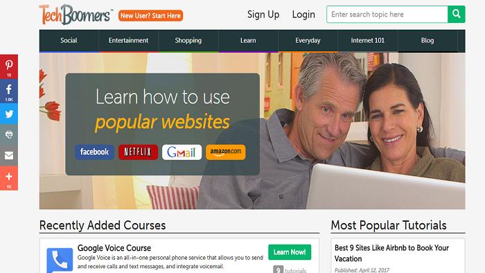 Old TechBoomers homepage