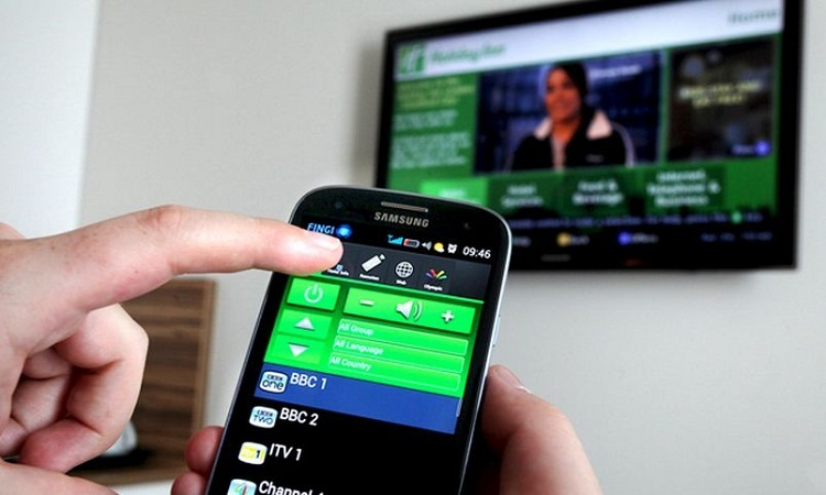 Mobile device synced with TV
